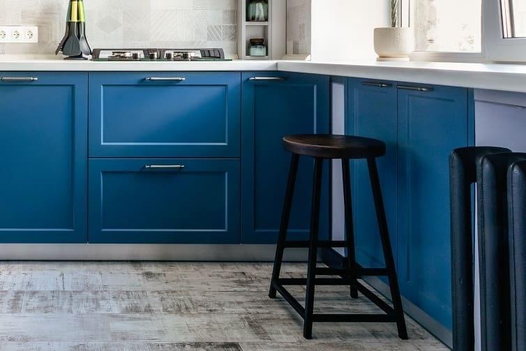 Встроенная кухня-Кухня МДФ в эмали «Модель 612»-фото4