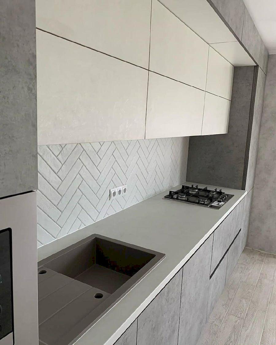 Белый кухонный гарнитур-Кухня МДФ в ПВХ «Модель 644»-фото3