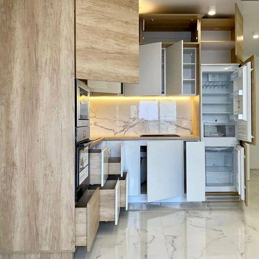 Белый кухонный гарнитур-Кухня из пластика «Модель 682»-фото6
