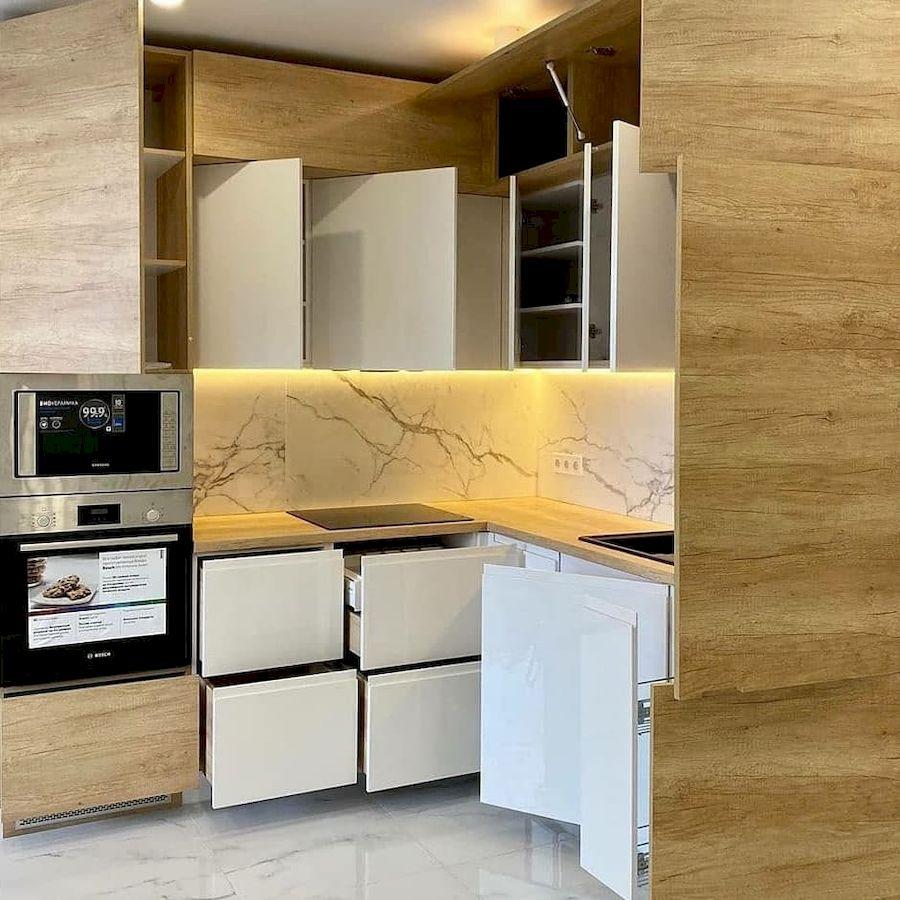 Белый кухонный гарнитур-Кухня из пластика «Модель 682»-фото7
