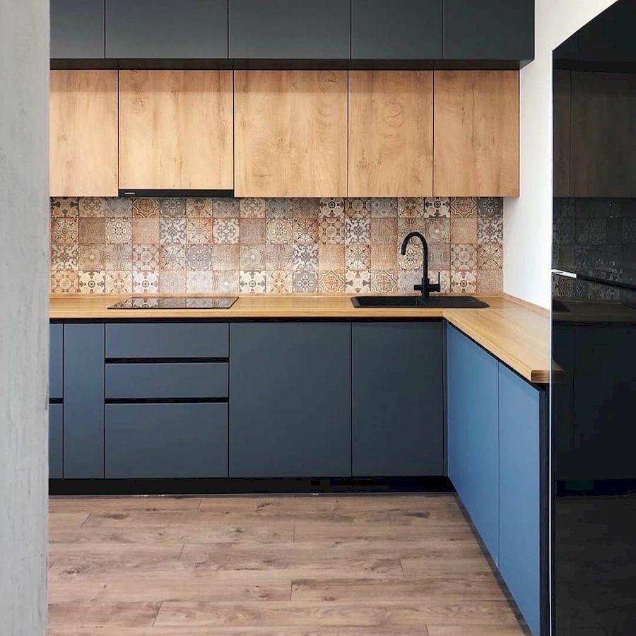Высокие кухни под потолок-Кухня МДФ в эмали «Модель 676»-фото2