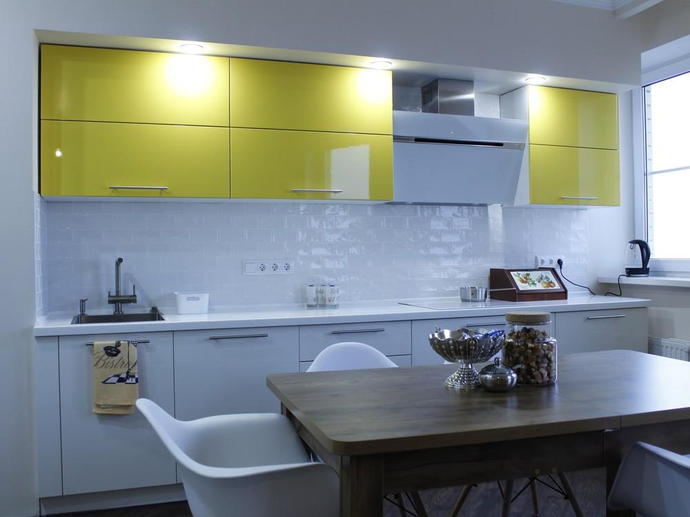 Встроенная кухня-Кухня МДФ в эмали «Модель 200»-фото1