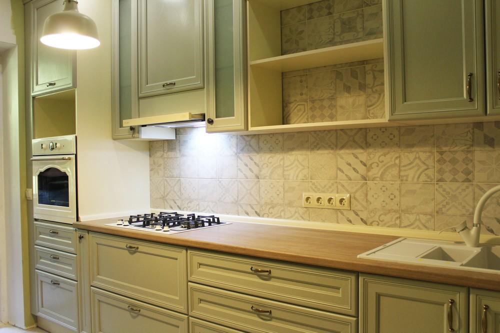 Встроенная кухня-Кухня из массива «Модель 172»-фото1