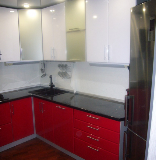 Встроенная кухня-Кухня МДФ в ПВХ «Модель 351»-фото5