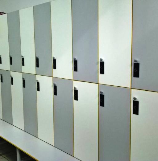 Торговая мебель-Шкафчики для раздевалки «Модель 157»-фото2