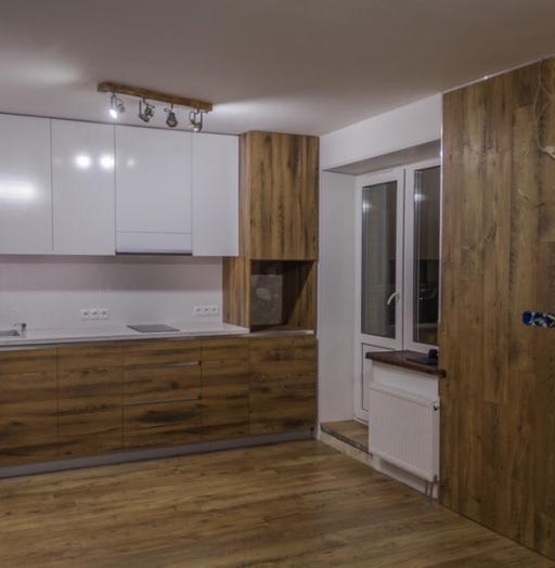 Белый кухонный гарнитур-Кухня из пластика «Модель 422»-фото5