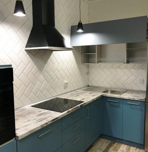 -Кухня из пластика «Модель 373»-фото13