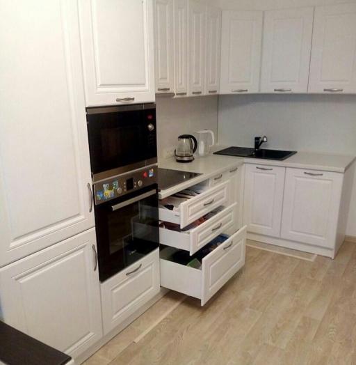 Акриловые кухни-Кухня МДФ в эмали «Модель 166»-фото4