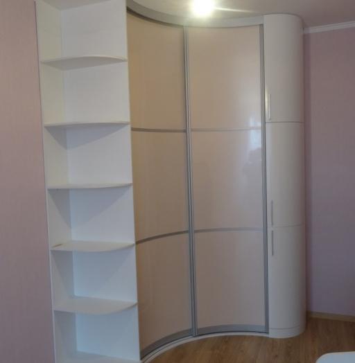 Белые шкафы-купе-Угловой шкаф-купе «Модель 89»-фото2