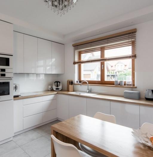 Белый кухонный гарнитур-Кухня МДФ в эмали «Модель 609»-фото4