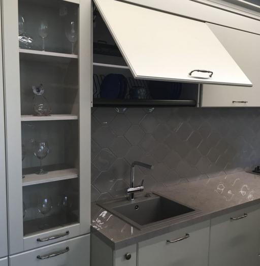 Белый кухонный гарнитур-Кухня МДФ в эмали «Модель 71»-фото3